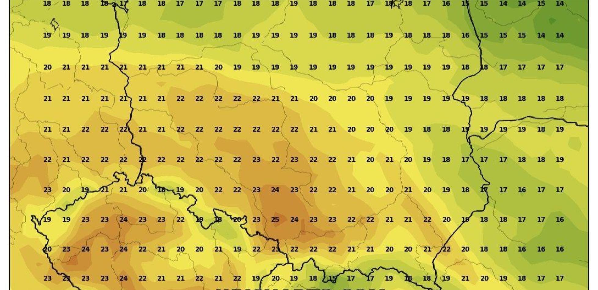 Kolejny napływ ciepła. Ile wskażą termometry ?