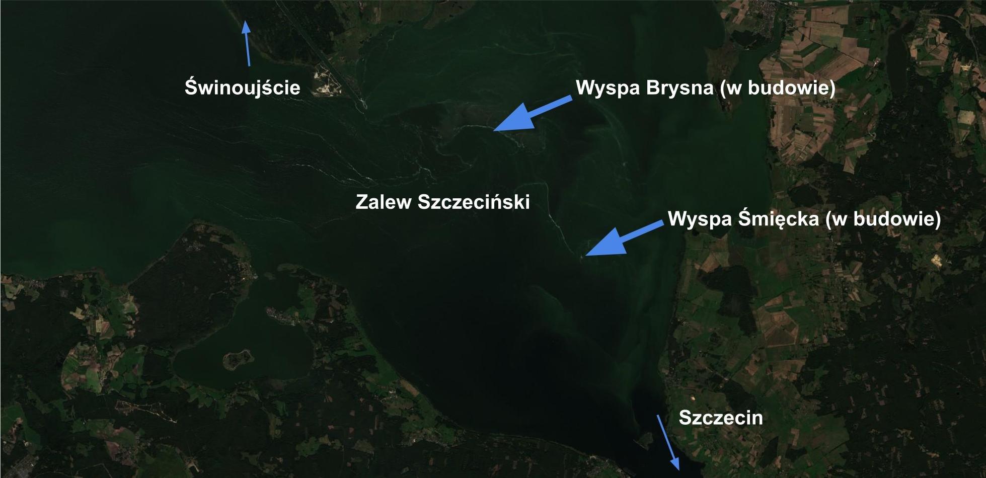 nowe wyspy, zalew szczeciński