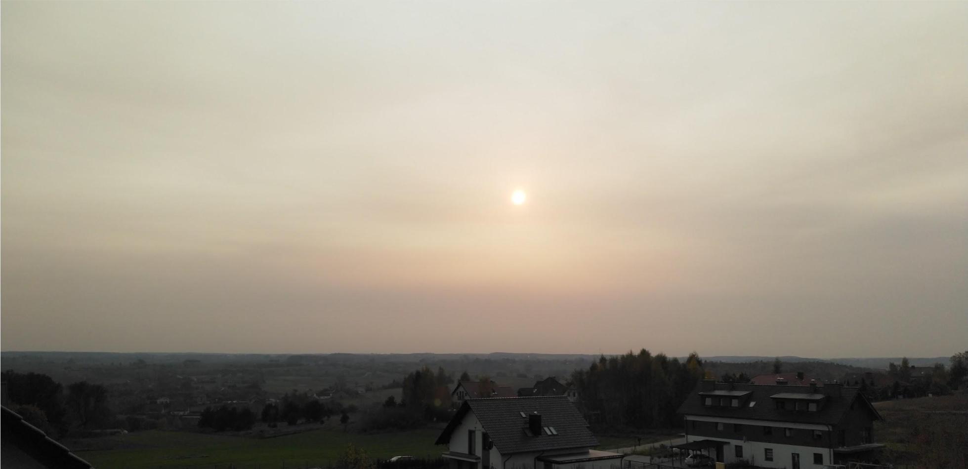 pył nad Polską