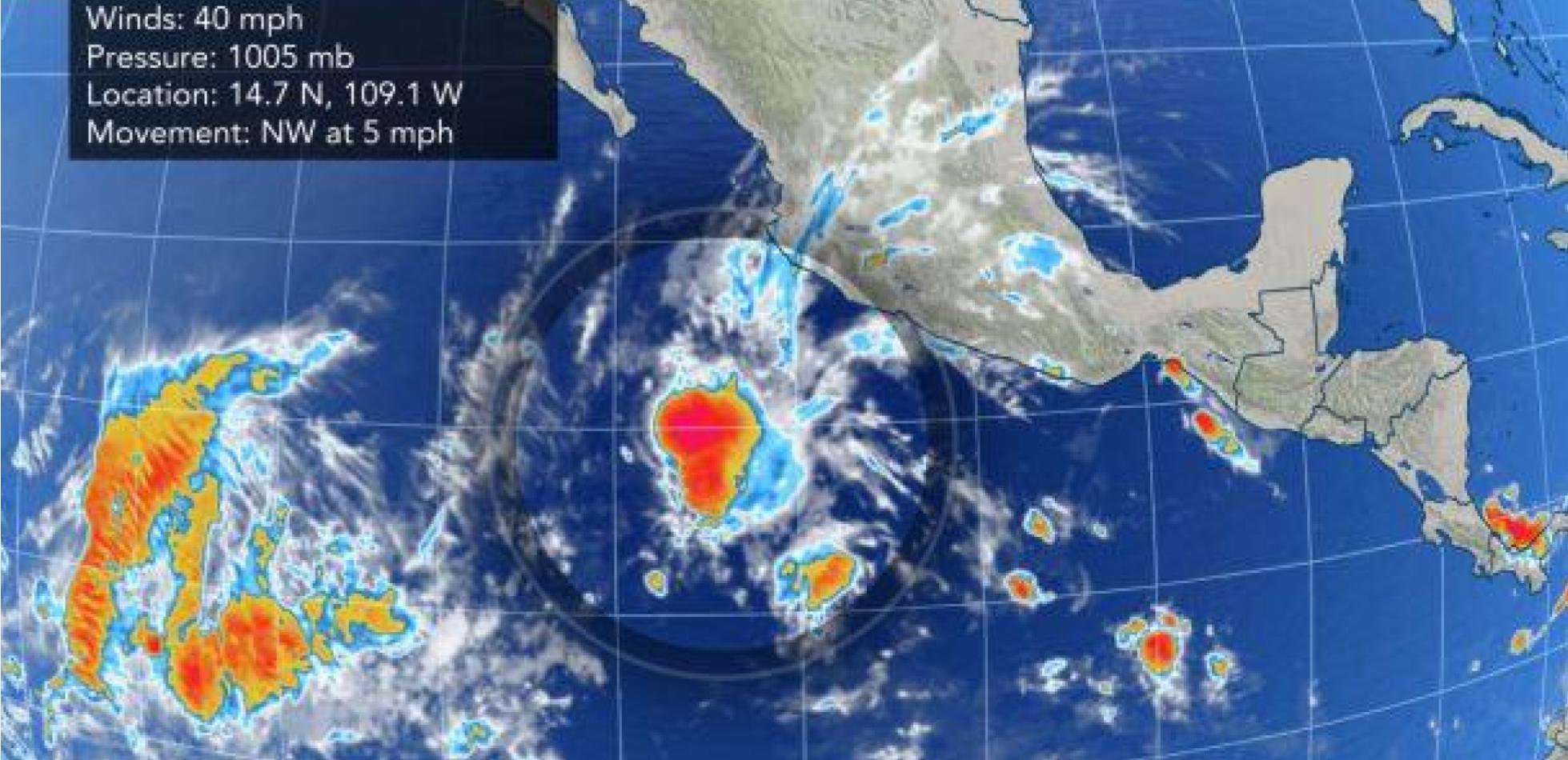 Rekordowo wczesna burza tropikalna na Pacyfiku