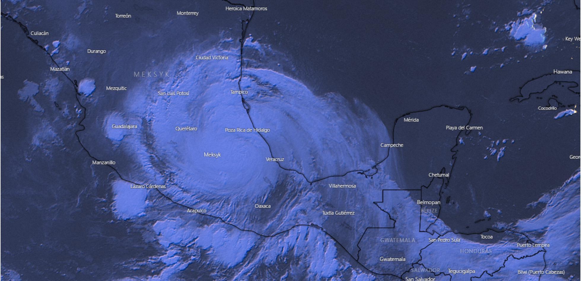 GRACE huraganem 3 kategorii